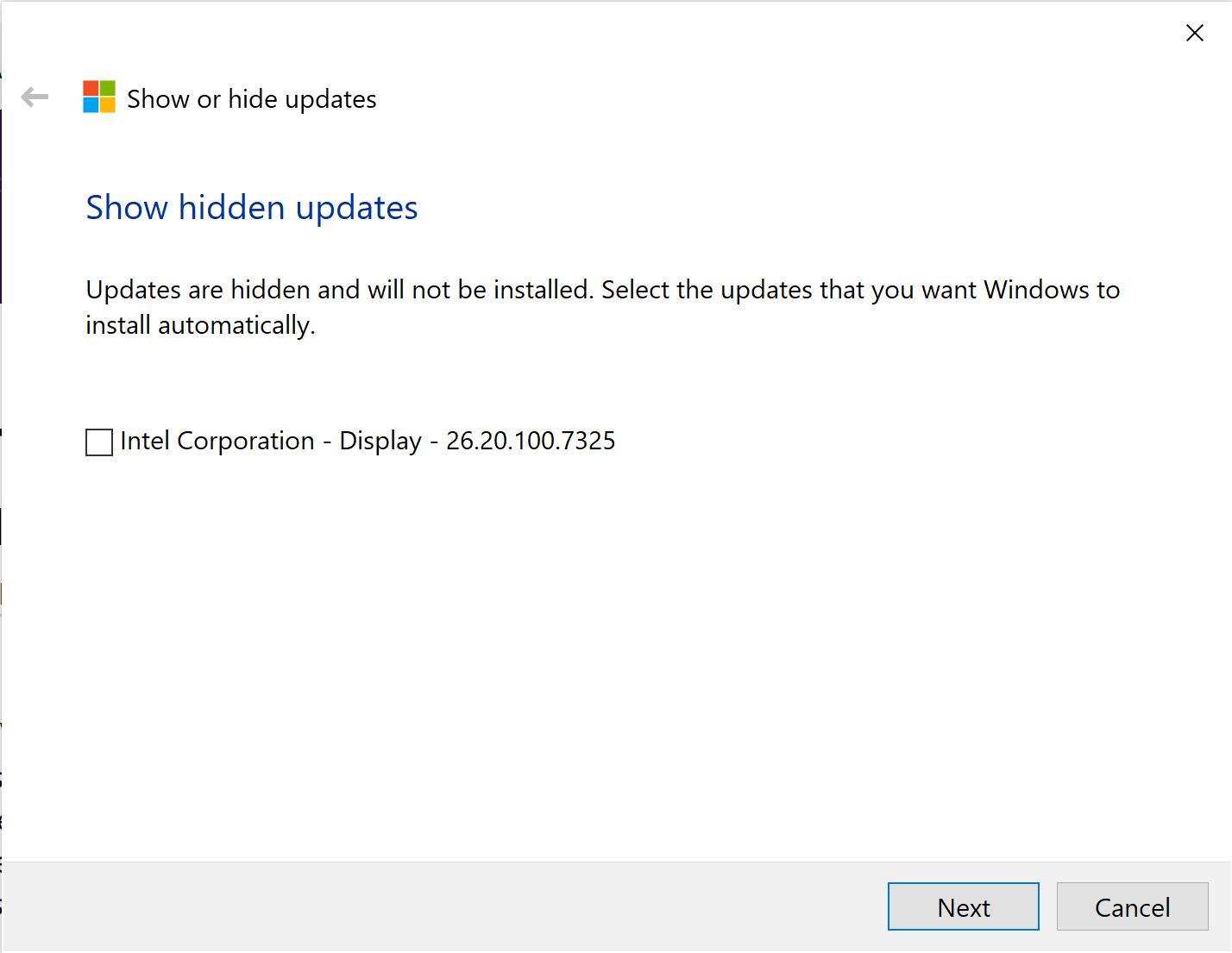 hidden-update